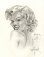 Marilyn Monroe portrait Comic Art